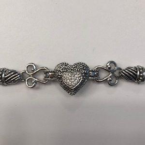 Lia Sophia Adjustable Silvertone Bracelet